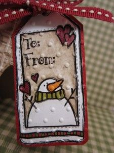 Dilly Bean Snowman Gift Tag