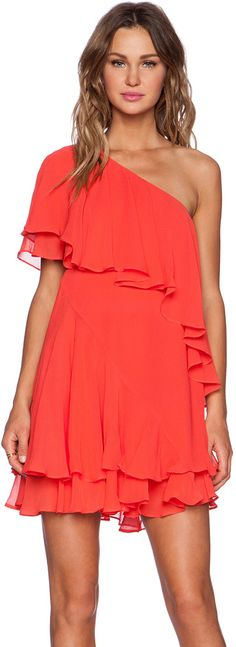 RACHEL ZOE Brunelle Bib Dress