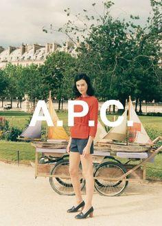 A.P.C. SS12 ad campaign by Venetia Scott
