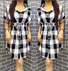 Checkered polo dress | Smartshop CHECKERED DRESS/J925 ₱33O.OO Button down checkered polo dress short sleeves drawstring waistline linen checkered  colors : black, blue, light gray & red One fits small - semi large frame  http://besmartshopphcom.mysimplestore.com/products/checkered-dressj925