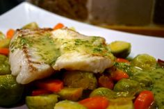 Living in the Ice Age: Cod, Chorizo, Sprouts, Carrots & Lemon Butter Sauce