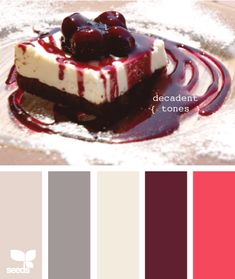 decadent tones...would be cute for a baby girl which would meld into a little girls room...could add brighter colors later.