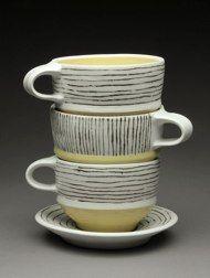 Ashley Kim - Stacked Mugs - 4 x 6 x 6 each