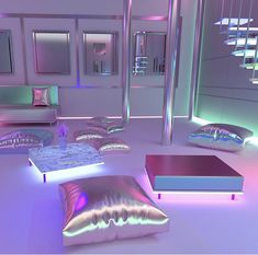 Cool Kids Bedrooms, Awesome Bedrooms, Cool Rooms, Neon Bedroom, Bedroom Decor, Galaxy Room, Cute Diy Room Decor, Glam House, Cute Furniture