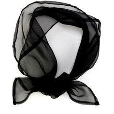 Black Sheer Scarf - Costumes
