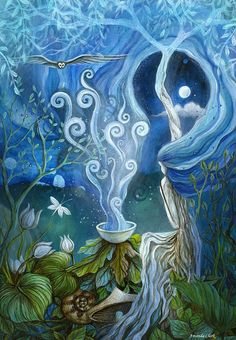 Shaman Painting - Shaman Light by Amanda Clark