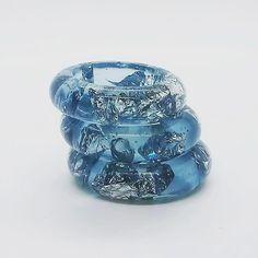 Guarda questo articolo nel mio negozio Etsy https://www.etsy.com/it/listing/604754315/anelli-impilabili-anello-azzurro-anello