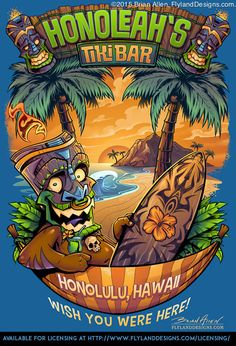 Tiki Man Beach T-Shirt on Behance
