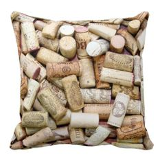 Wine Corks Decorative Throw Pillow