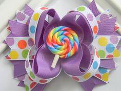 Boutique Hair Bow- Lollipop Boutique Bow