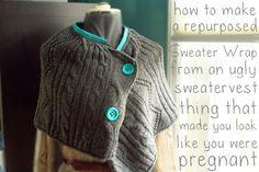sweater capa. Lindo, para los de lana que ya están en desuso.