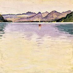 Koloman Moser - Wolfgangsee mit hohem Horizont – ca1913