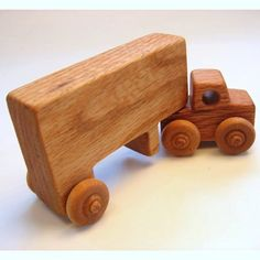 Handcrafted Wooden Semi Truck
