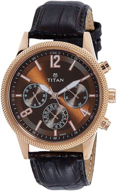 4a165d2f791 Buy Titan Neo Analog Brass Dial Men s Watch-1734WL01 Online at Low Prices  in India - Amazon.in