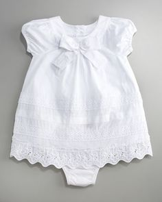 Juicy Couture Baby Eyelet Trim Cotton Dress