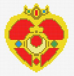 Stitch chart for Sailor Moon's cosmic heart compact. Made by me. Feel free to use, but please don't repost without credit.