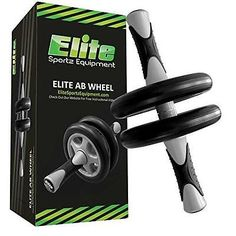 Elite Ab Wheel Roller - Dual Wheels - Smooth Workout Isolates the Abs and New