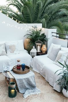 Jessie Chanes – Seams for a desire – El Corte Ingles / Dekopub Balcony Design, Patio Design, House Design, Outdoor Rooms, Outdoor Living, Outdoor Decor, Cozy Patio, Modern Backyard, Hygge