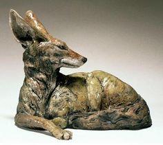 Nick Mackman's animal sculptures. Looks like Molly.