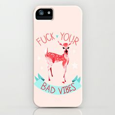 Fuck Your Bad Vibes iPhone & iPod Case by Momalish - $35.00