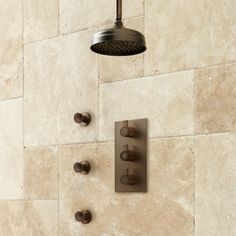 """Isola Thermostatic Shower System w/6"""" Rainfall Shower-3 Jets-Oil Rubbed Bronze #SignatureHardware"""