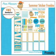 New Summer Planner Stickers Kit --- Summer Planner Stickers Beach Bliss Kit 5 PDF, 300 Summer Stickers Pool, BBQ summer clip art EC Happy Planner #summer #plannerlove #plannerstickers #beach #ocean #pool #fun #printable #freebie