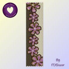 Beading Pattern for Loom or Peyote pdf Purple Duo bp209   FDEkszer - Patterns on ArtFire