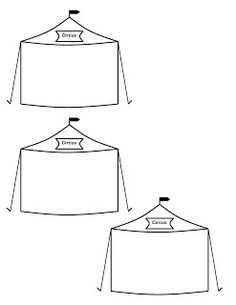 Circus tent templates - Perhaps to paint?