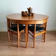 Vintage Retro Mid Century 60s Teak HANS OLSEN STYLE Dining Table 4 Chairs