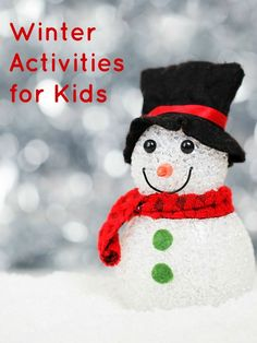 Great collection of books, play ideas and other fun winter activities for kids