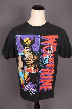 Vtg 90s Wolverine Marvel Comics superhero x Men Shirt XL 1993   eBay