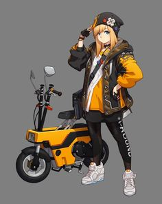 Awesome Moto bike images are readily available on our website. Female Character Design, Character Design References, Character Design Inspiration, Game Character, Character Concept, Concept Art, Chica Anime Manga, Anime Art, Female Characters