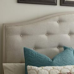 Custom Furniture, Home Furniture, Hgtv Designers, Upholstered Beds, Throw Pillows, Headboards, Future House, Fabric, Bedroom Ideas