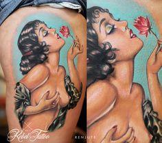 #tattoo #pinup #portrait #colortattoo #renjute #rebeltattooriga #inked #latvia #riga #rigatattoo #latvian #tattooartist #artist #art #inked