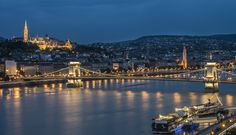 What a breathtaking sight? Post Card worthy view of Budapest and the magnificent Chain Bridge.