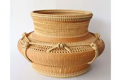 "Kagedo Japanese Art Flower Basket by Iizuka Rokansai Titled ""Hoden"" or Holy Shrine - Kagedo Japanese Art"
