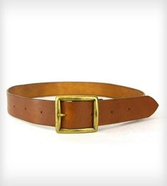 Leather Belt with Antique Brass Buckle | Men's Accessories | Red Clouds Collective | Scoutmob Shoppe | Product Detail