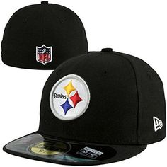 NFL Mens Pittsburgh Steelers On Field 5950 Game Cap By New Era 7 1 8 8e8a2acfb0c