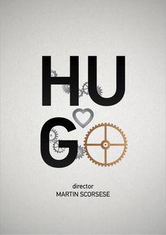 Hugo (2011) ~ Minimalist Movie Poster by Kati Kuchinskaya #minimalmovieposters #alternativemovieposters