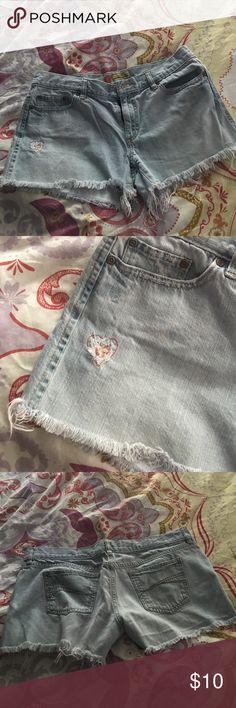 Jean shorts Cute comfy jean shorts with heart cutout Old Navy Shorts Jean Shorts