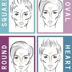 "Contouring For Your Face Shape Tips: Contour should be applied to where shadows would naturally fall on a person's face. Highlight should be applied to where light would naturally hit a person's face. Blend, blend, blend!Never contour with a bronzer. Instead, opt for more brown and grey tones. Play around with your contour and find out what works for your unique face and what doesn't. Remember to blend!The oval face shape is considered the most ""ideal"" and requires less contouring than…"
