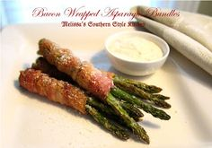 Melissa's Southern Style Kitchen: Bacon Wrapped Asparagus Bundles