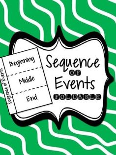 """This fun foldable is the perfect tool to guide students' writing when asked to sequence the events of a story.  The side labeled """"Sequence of Events"""" is glued into their journal, while the dotted lines are cut and can be folded back allowing for the students to focus on writing each piece -- the beginning, the middle, or the end."""