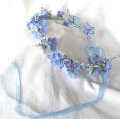 Bridal hair accessories light blue by ChurchMouseCreations on Etsy