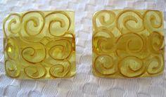 Antique Apple Juice Carved Bakelite Buttons by VintagObsessions, $12.00
