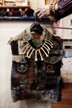 Blackmeans necklace made from chicken bones