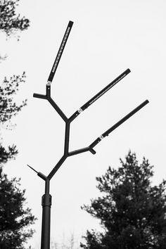 branch street lighting by keha3 imitates crowns of pine trees