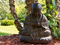 Namaste Monk Garden Statue - Buddha Garden Statues garden statues