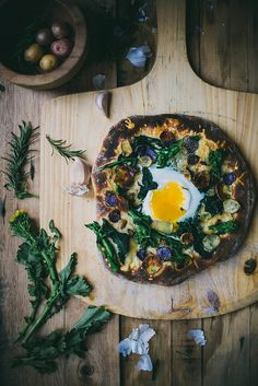 Rapini  Potato Pizza on Buttermilk Crust by Beth Kirby | {local milk}, via Flickr