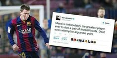 If Gary Lineker said it... Gary Lineker knows why...